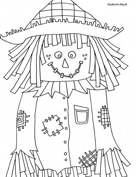A Coloring Page Of Scarecrow