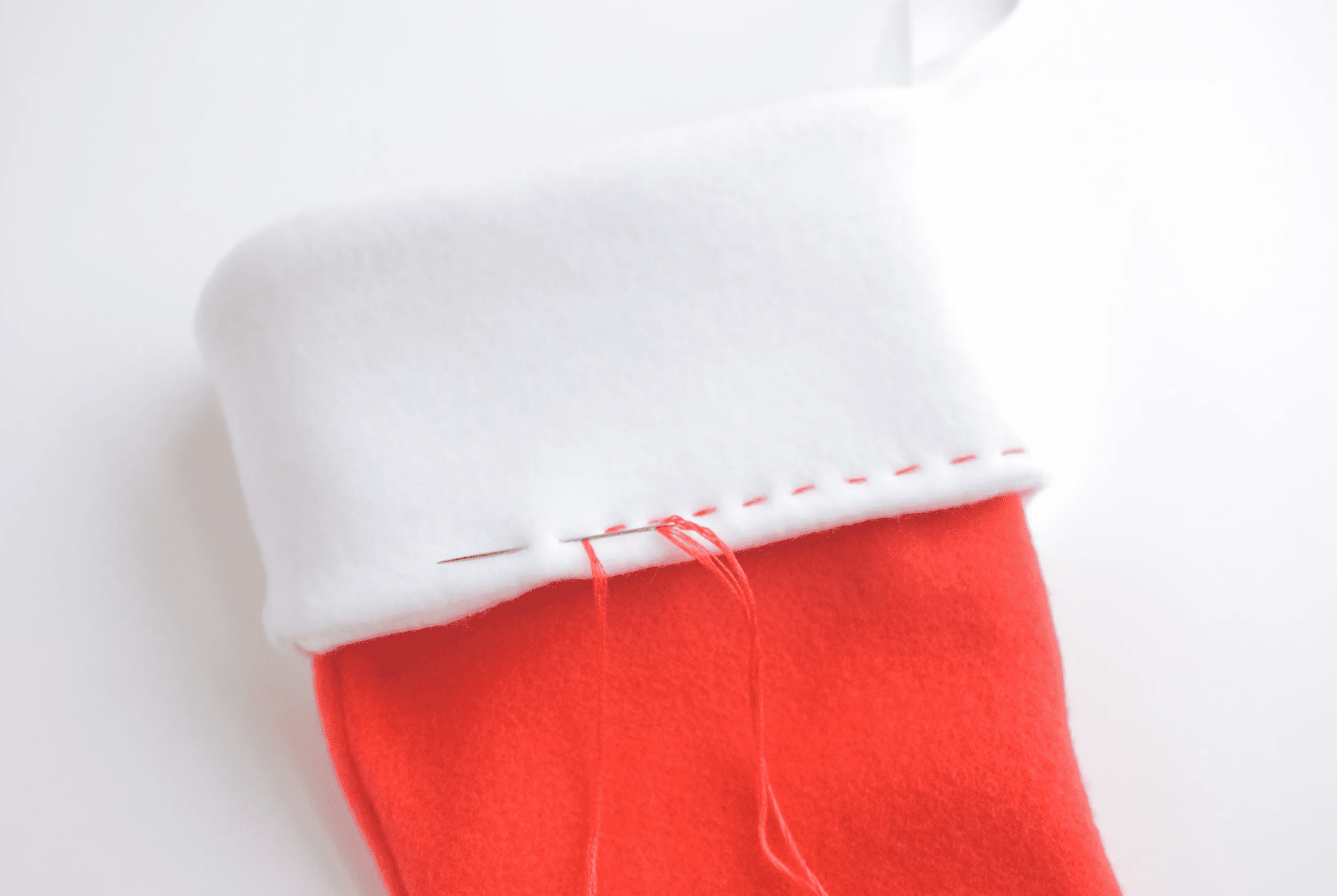 finishing the stocking