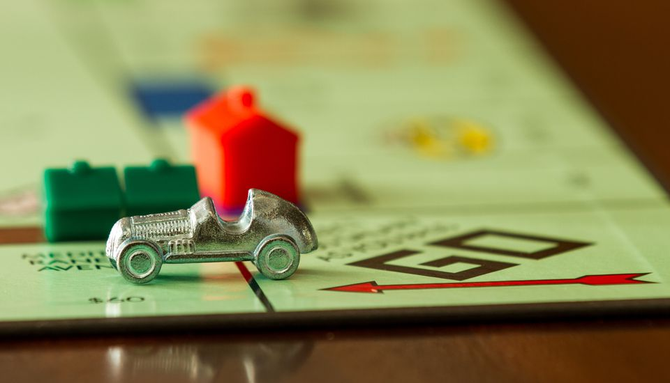 Monopoly board game and pieces