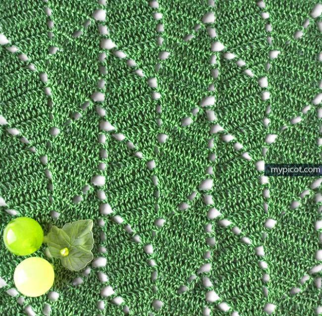 Crochet leaf stitch