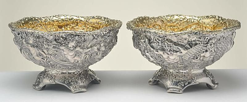 Pair of Tiffany Sterling Silver Bowls with Liners