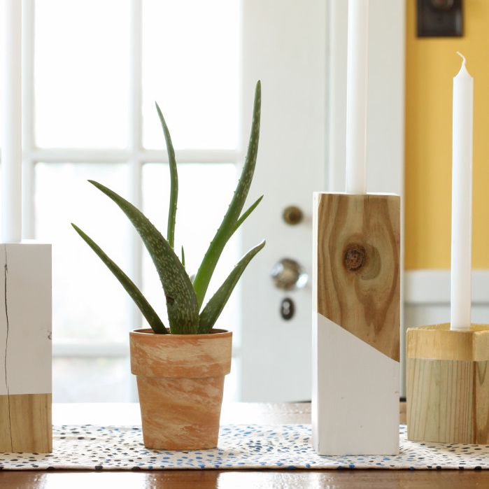 DIY taper candleholder ideas