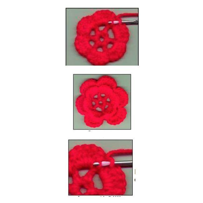 Two Layer Irish Crochet Rose Free Pattern