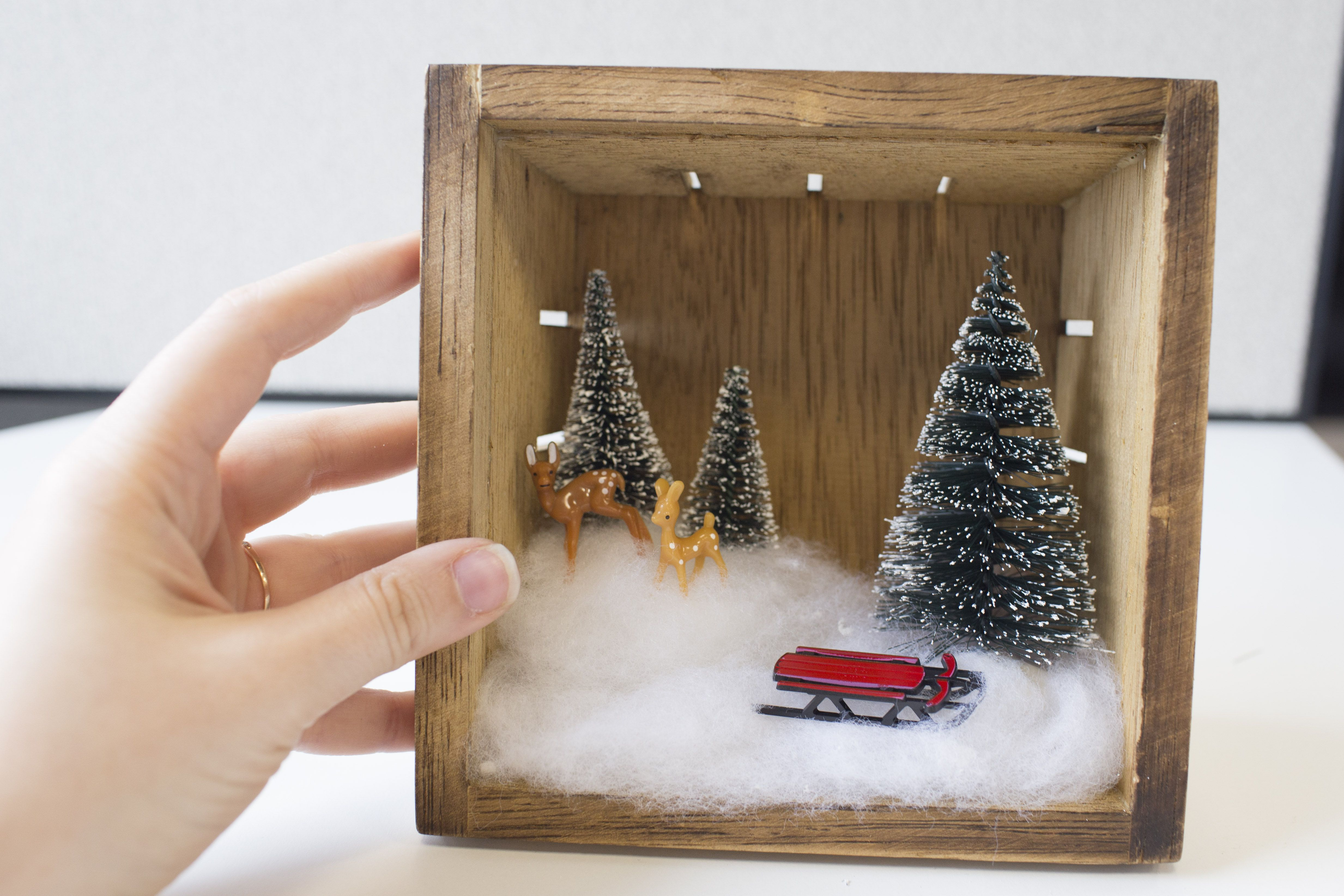 Create a Winter Wonderland DIY Holiday Shadow Box