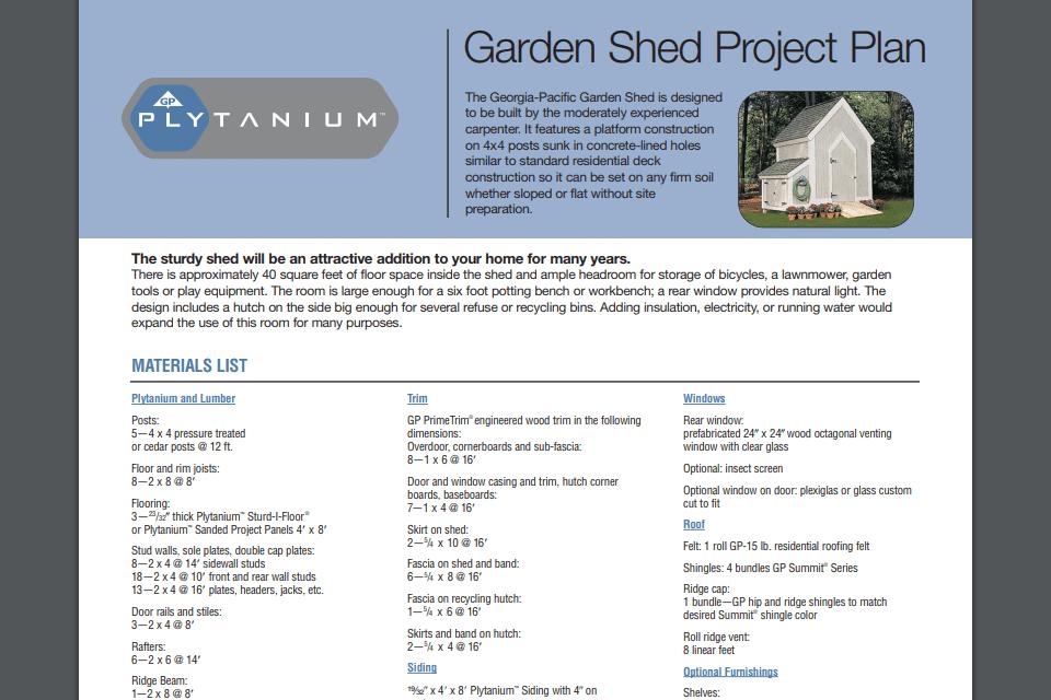 46b11bd4830 Free Garden Shed Plan. Screenshot of plans for building ...