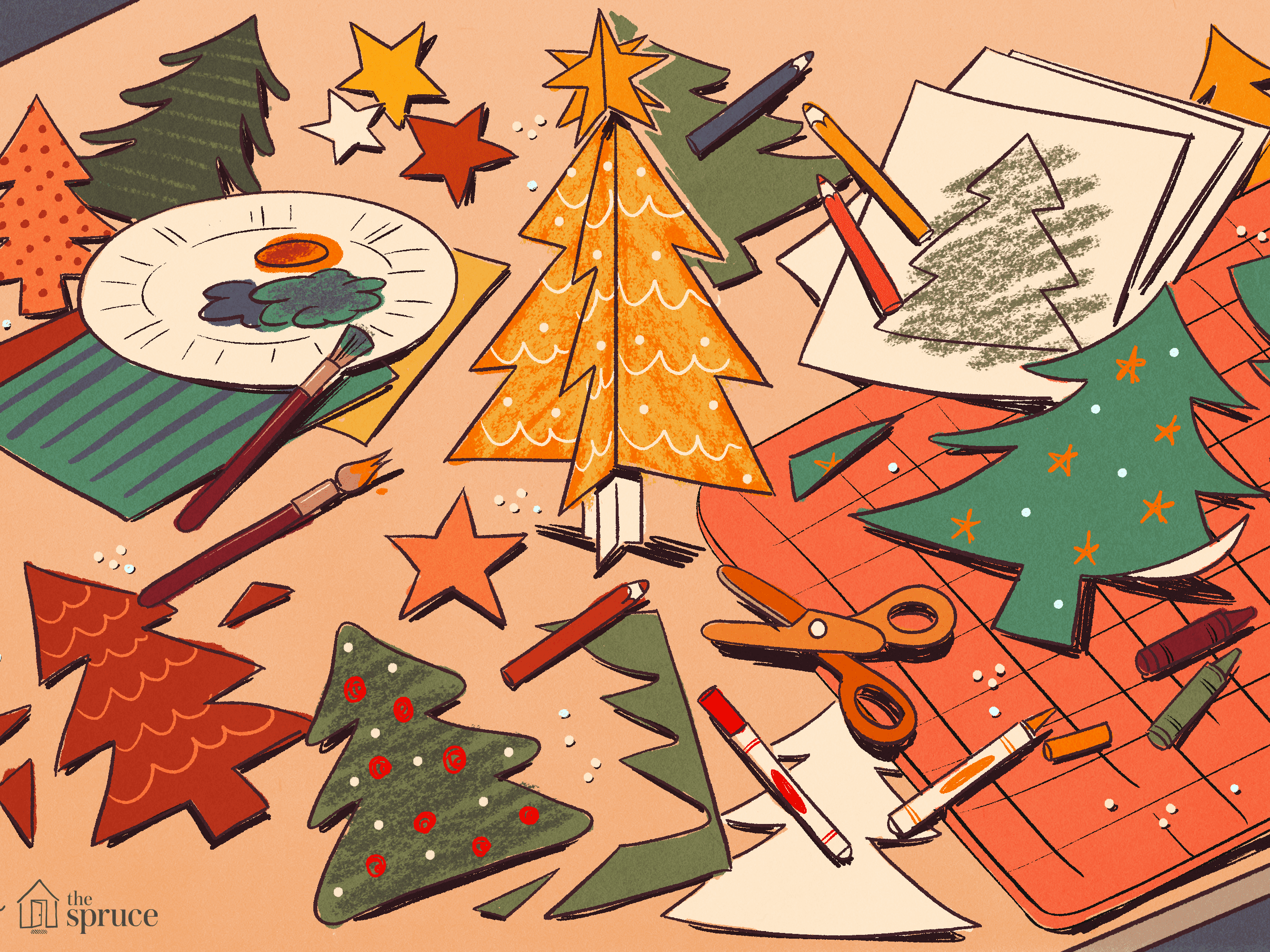 Super Easy Origami Christmas Tree Tutorial - DIY - Paper Kawaii ... | 2000x2667