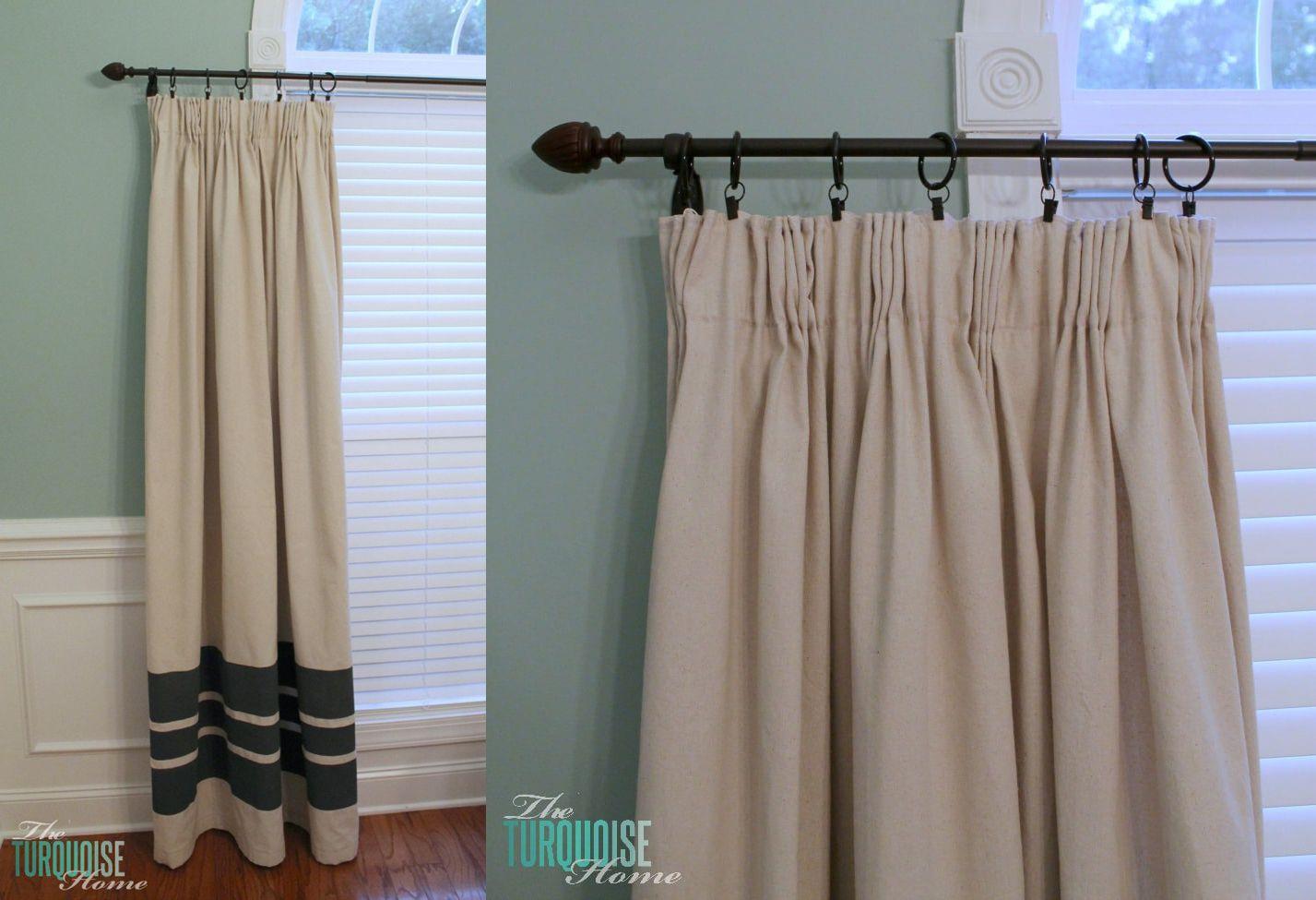 DIY Easy Pleated Curtains