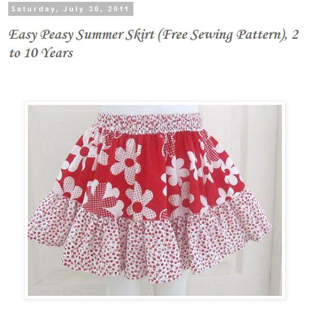 Free Patterns to Sew Skirts