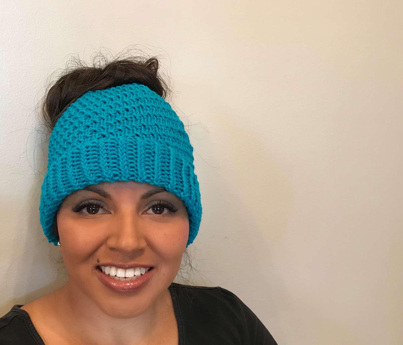 Aria Messy Bun Hat Pattern