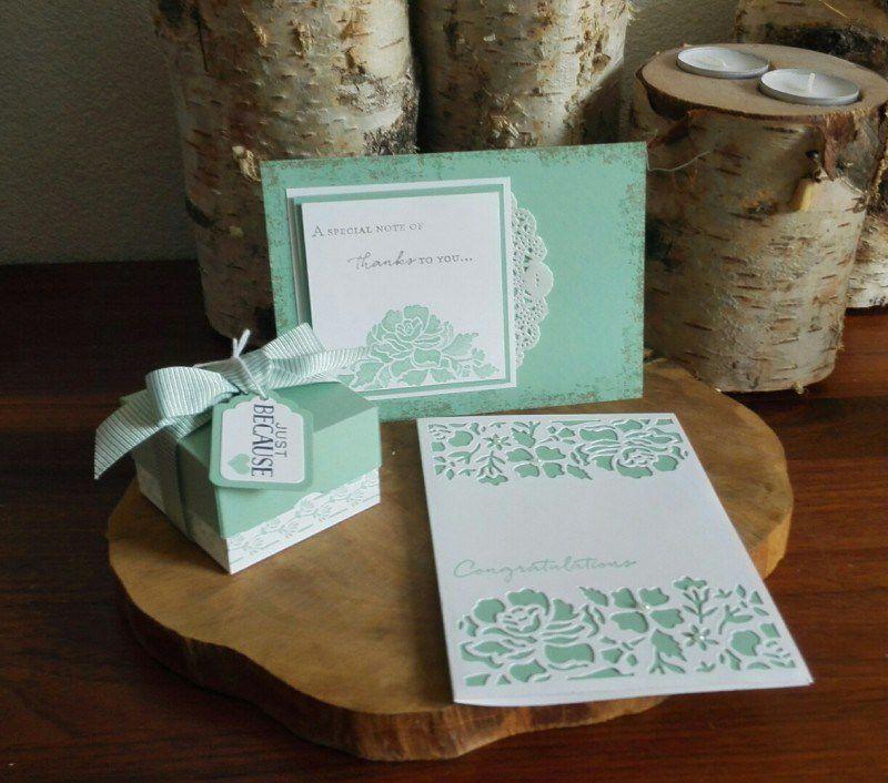 light green floral card