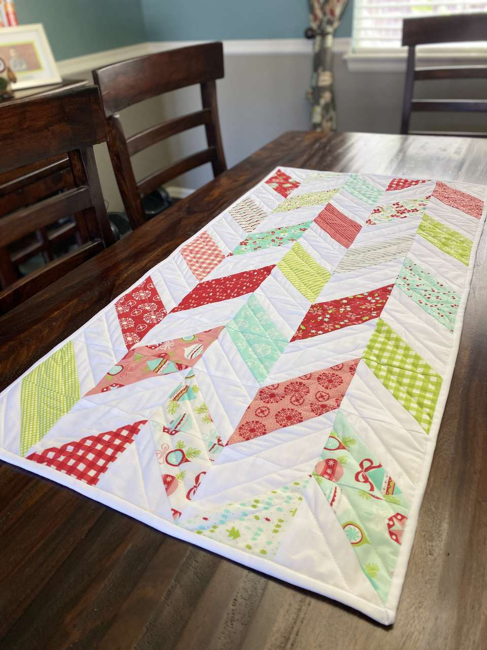 A Christmas table runner