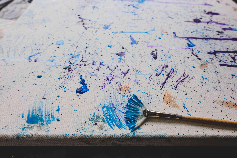 fan brush splatter