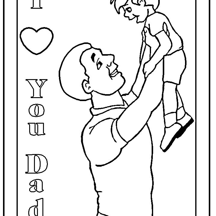 I Love You Dad Coloring Pages - GetColoringPages.com | 718x718