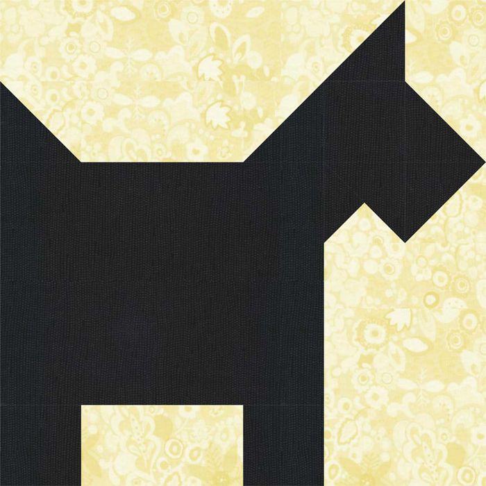 Scottie Dog Quilt Block Pattern