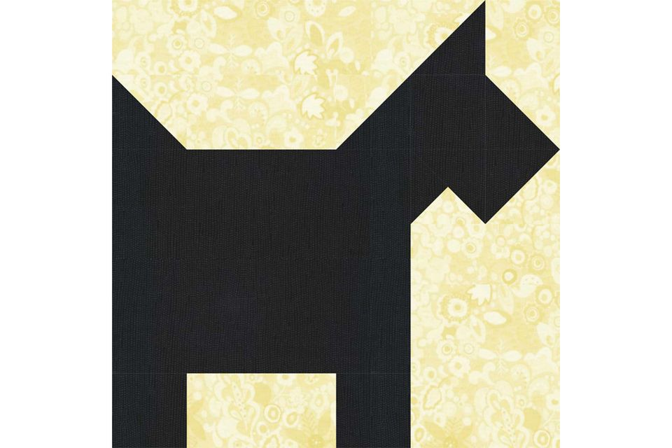 Scottie Dog Quilt Block Pattern