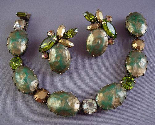 Circa: 1950s Regency Barouque Pearl Bracelet Set