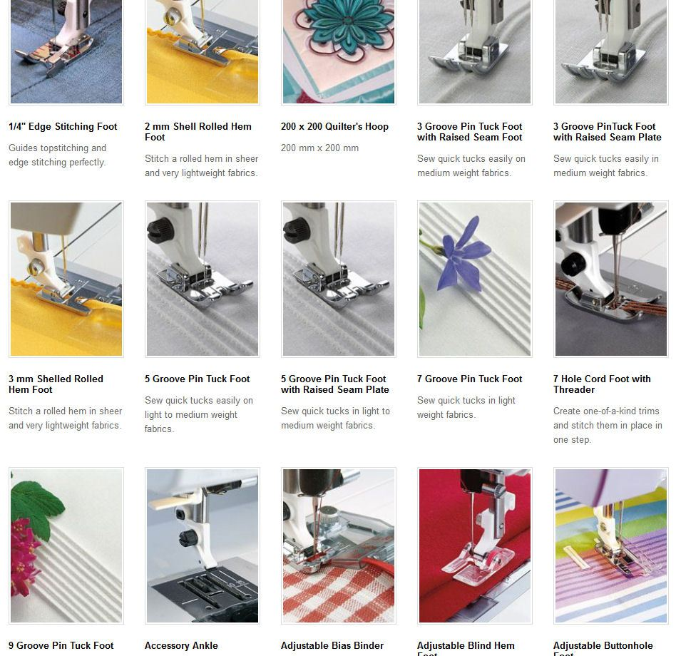Feet Available For Husqvarna Viking Sewing Machines