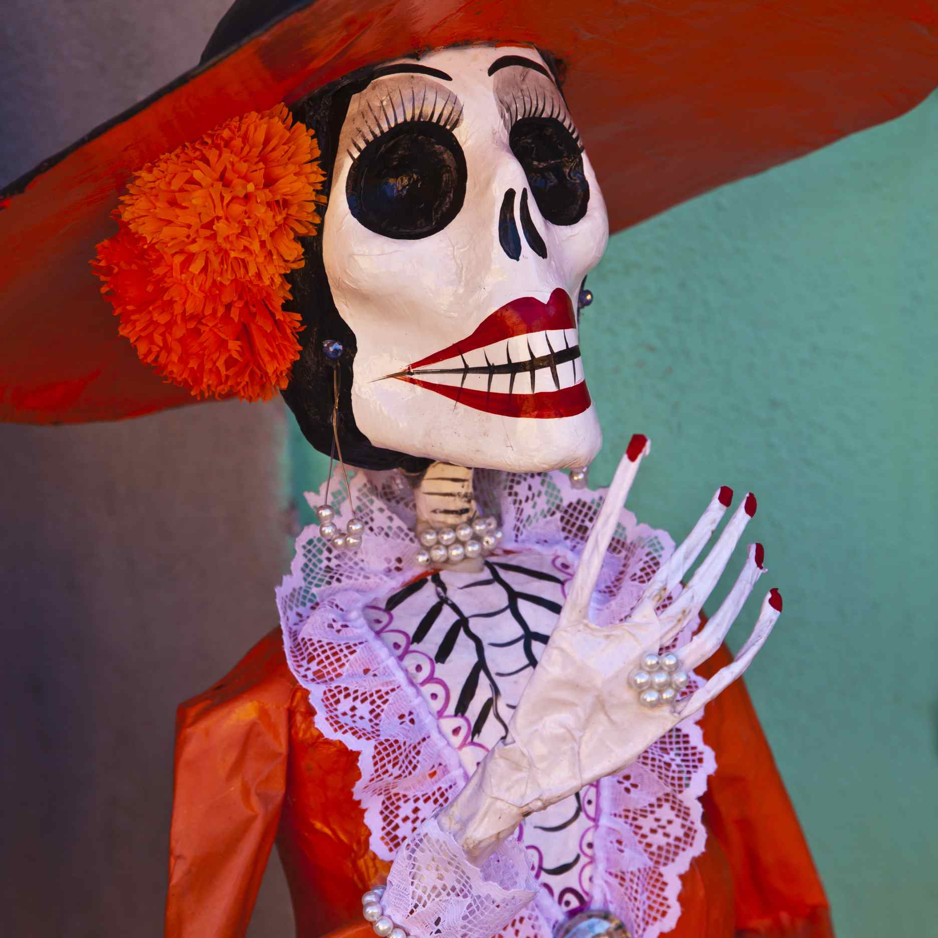 papier mache day of the dead female