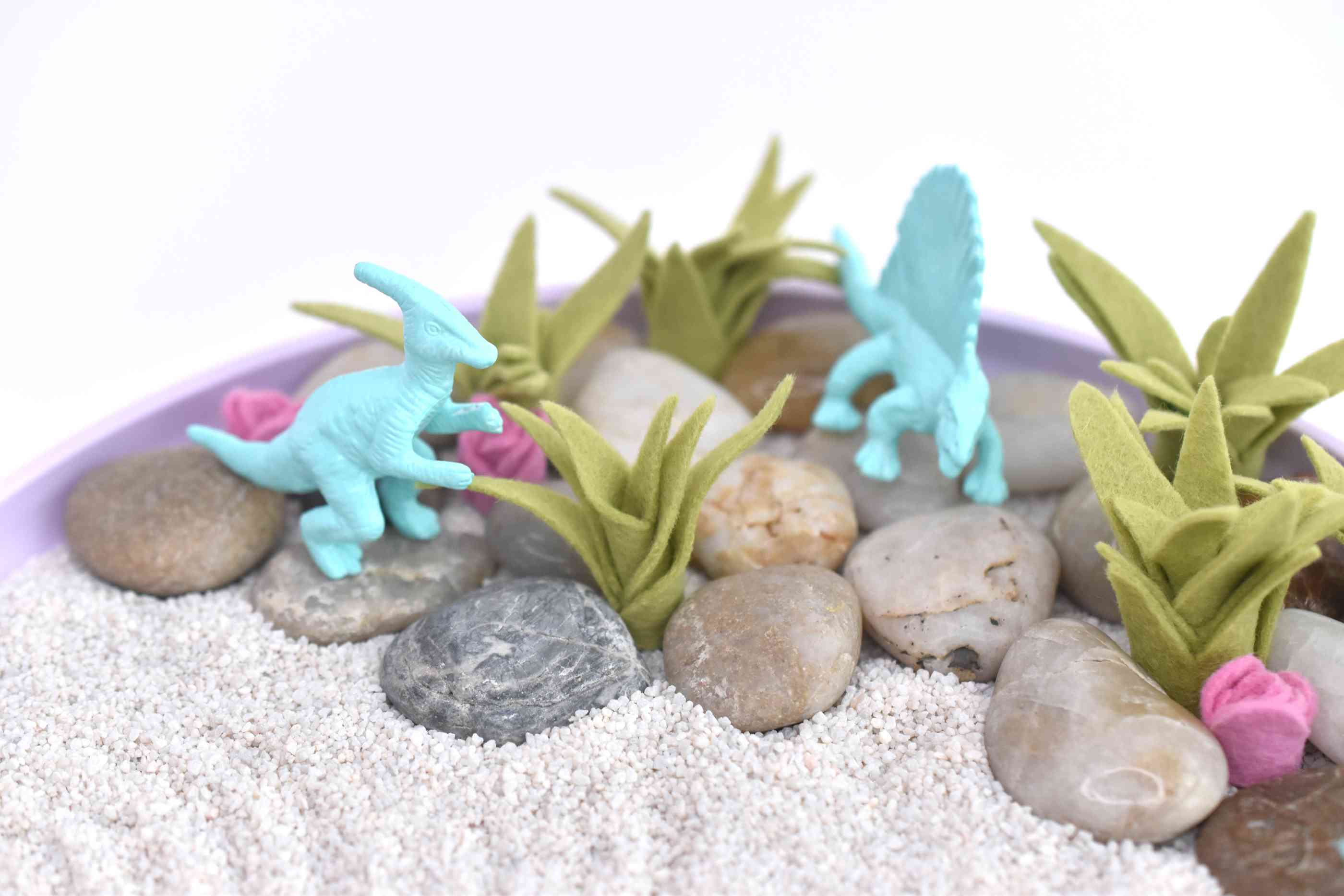 Add the Painted Dinosaurs to the Garden