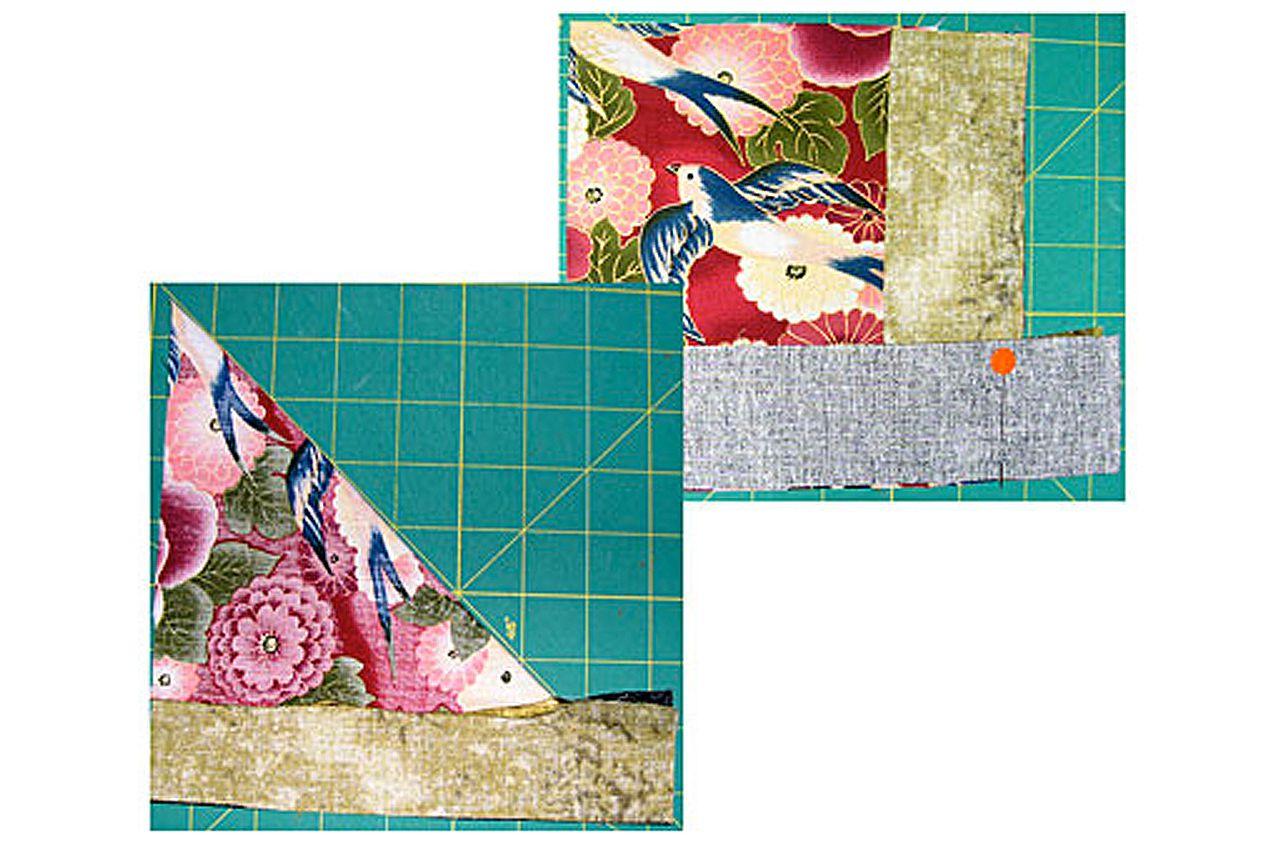 Sew Miters for the Attic Windows Quilt Block