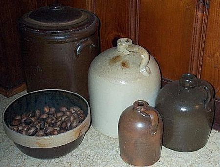 From Colonial Times Through The Mid 1900s American Potters Formed Heavy Utilitarian Crockery Of Stoneware These Useful Items Helped Hearty Cooks And