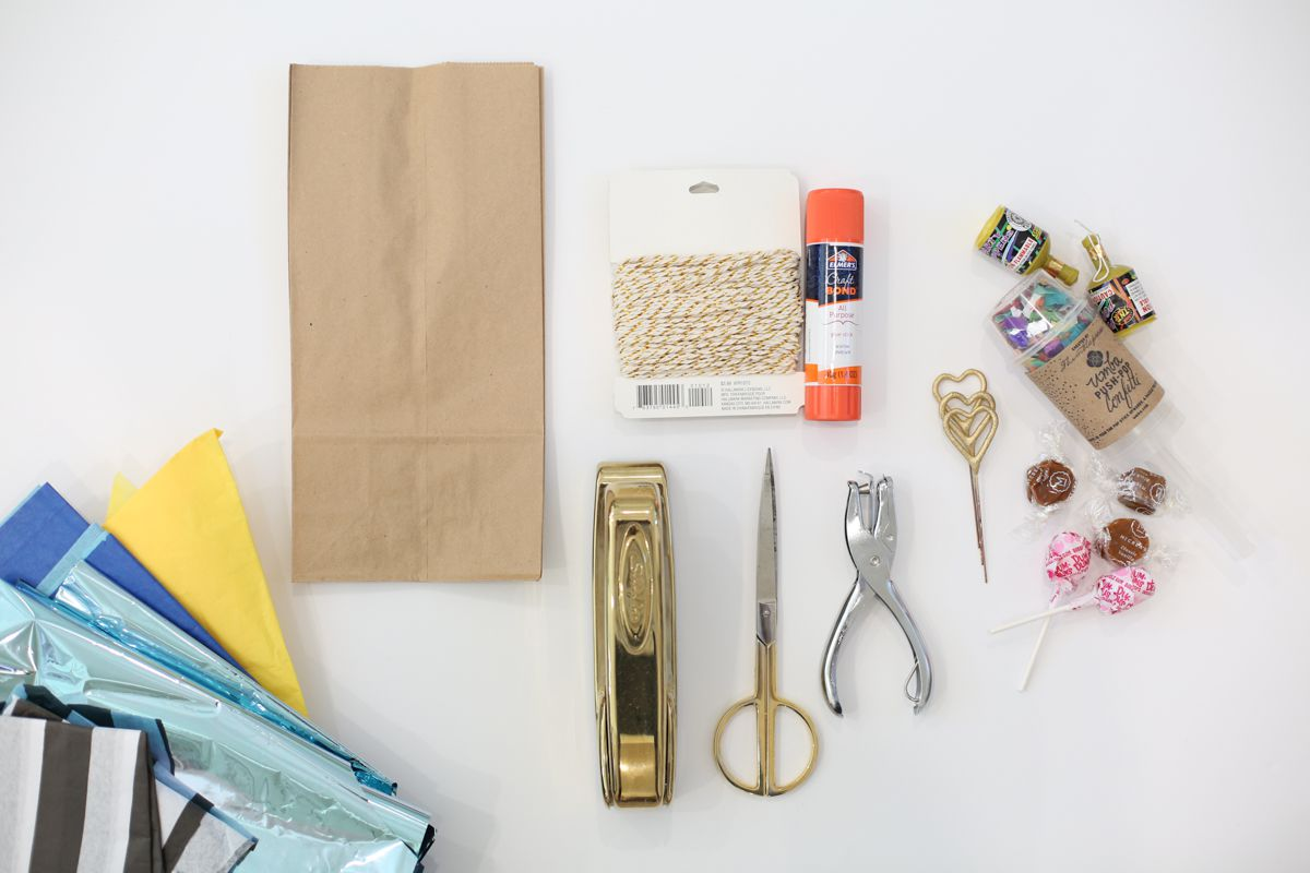 paper bag pinata supplies