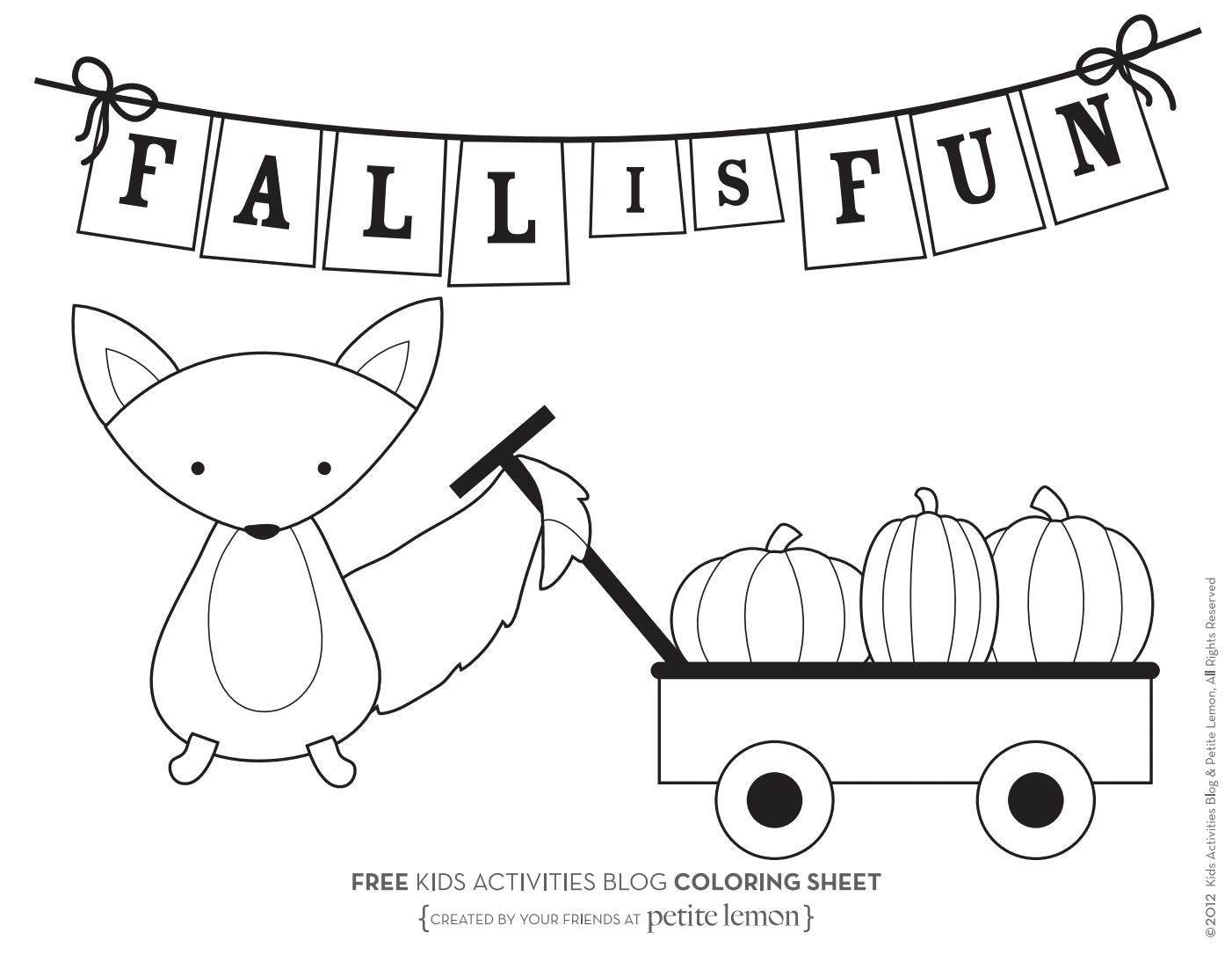 Fall Coloring Pages From Kids Activities