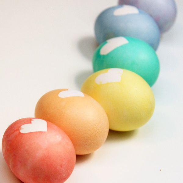 DIY Rainbow Heart Easter Eggs