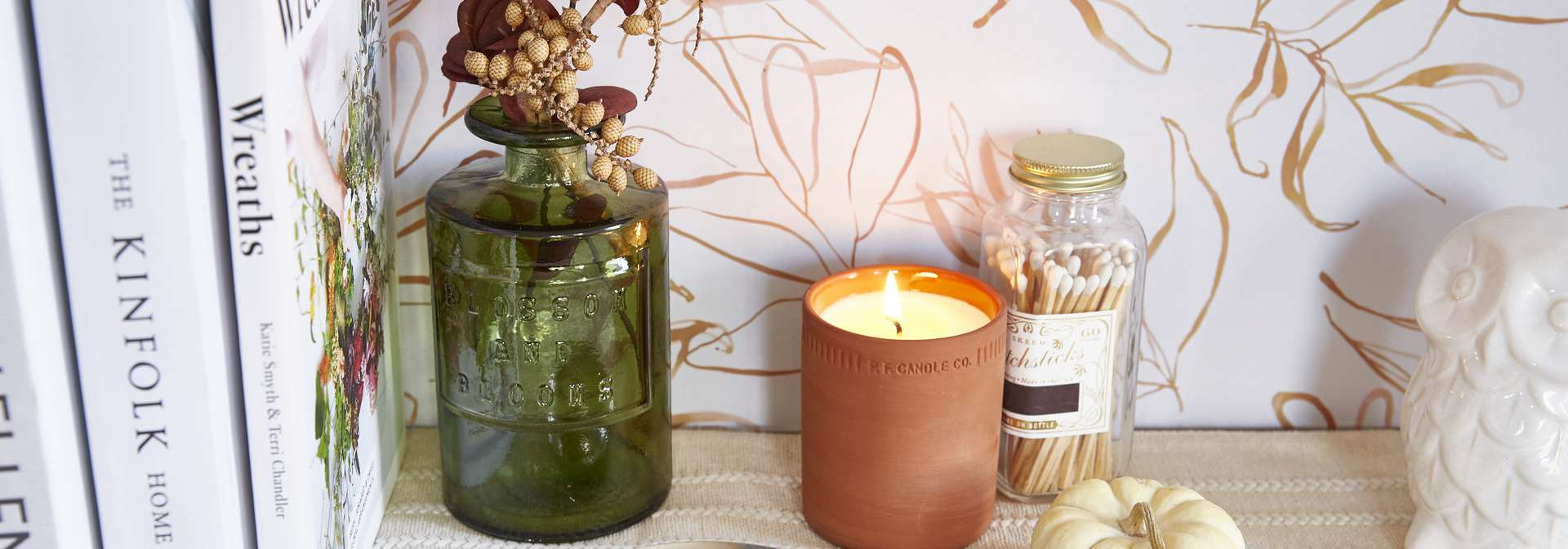 Fall accents on a table