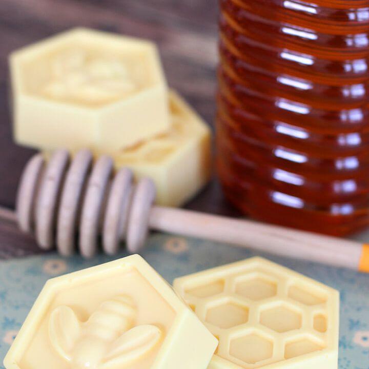milk and honey homemade soap