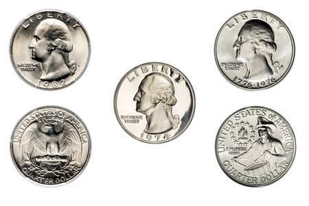 Washington Quarter Clad Examples