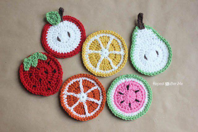 Crochet Fruit Coasters Free Patterns