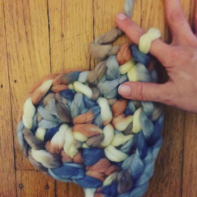 Finger Crochet with Roving