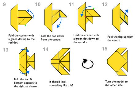Fold, Origami Tutorial - How to fold an Easy Origami fish, Origami ... | 300x450