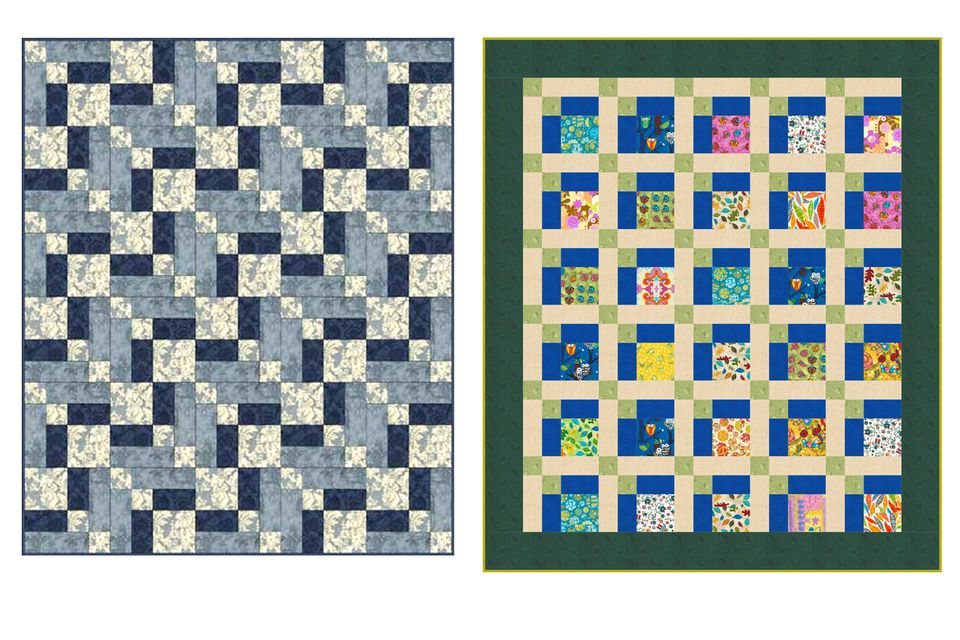 Two Versions of the Hopscotch Quilt Pattern