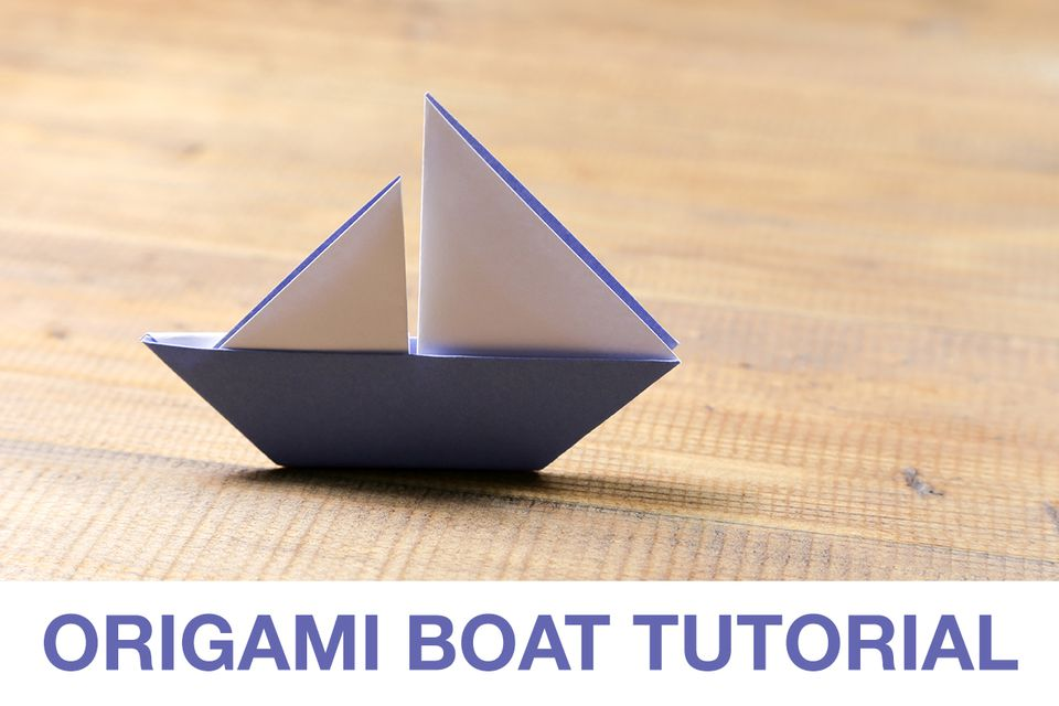Completed origami boat