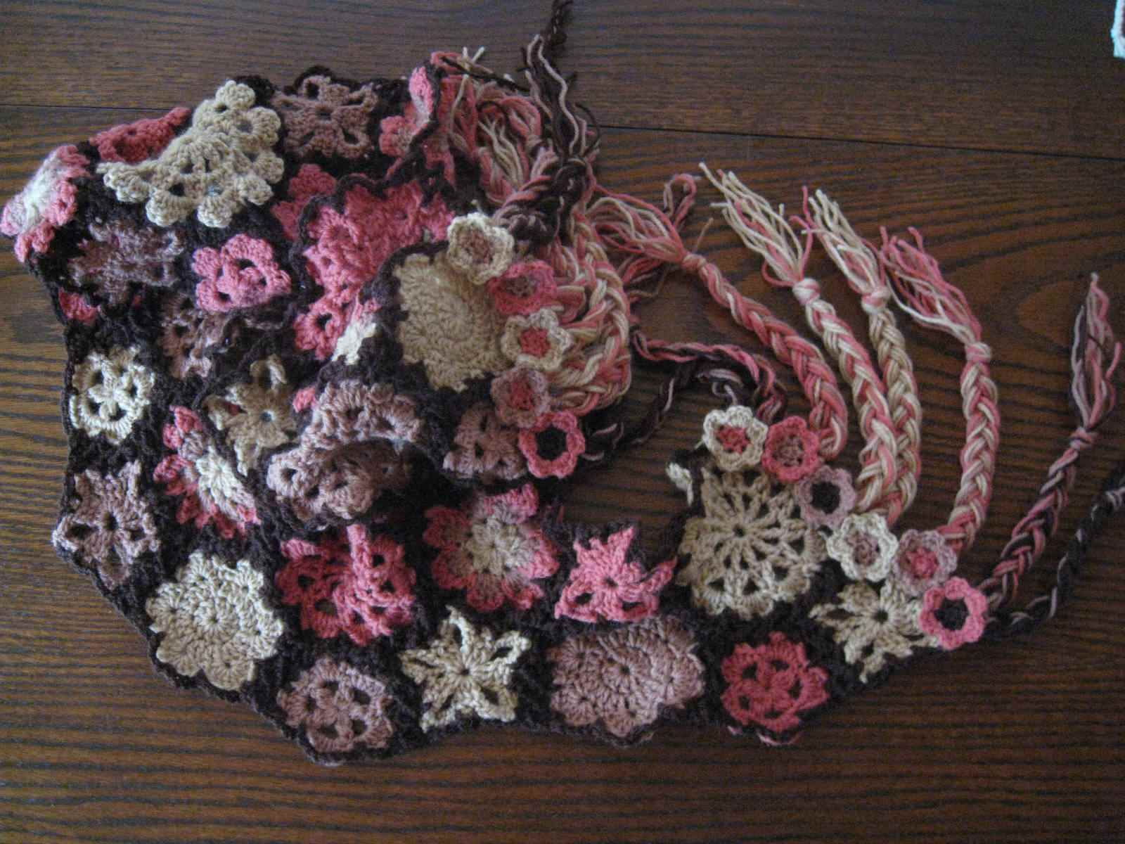 15 Fun Fabulous Free Fringed Crochet Patterns It With Flowers S Found A Few Braided Fringe Flower Scarf Pattern
