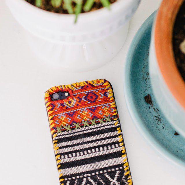 DIY tapestry phone case