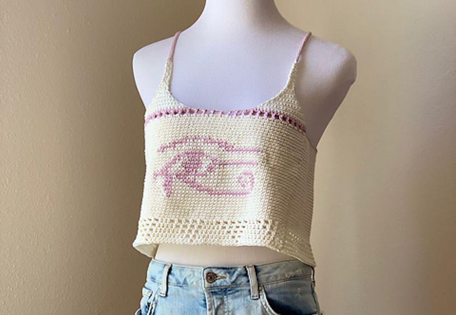 Tapestry Crochet Crop Top Free Pattern