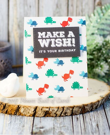 Boys Dino Birthday Card