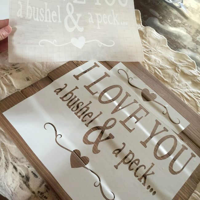 contact paper wooden sign craft