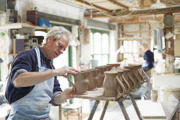 Pottery handles
