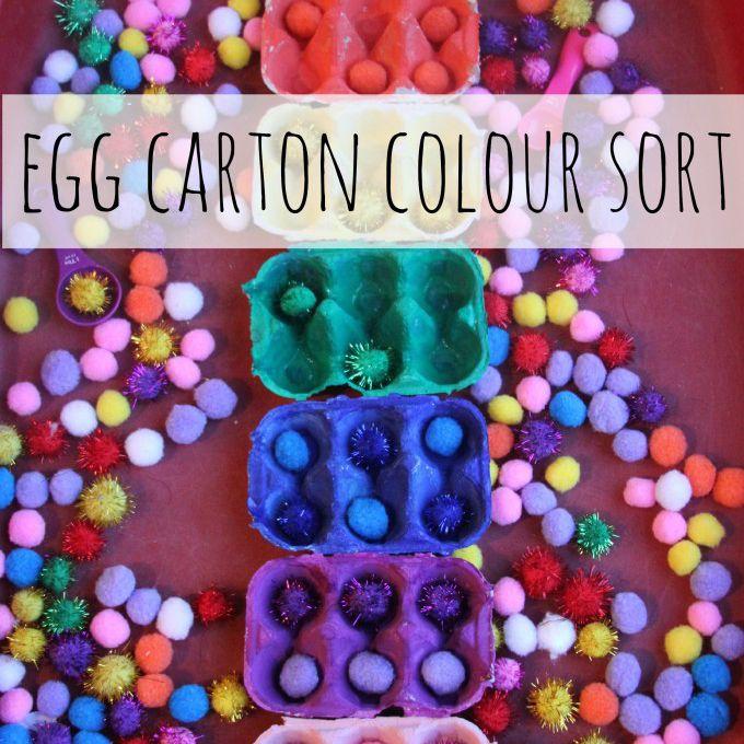 egg carton color sort