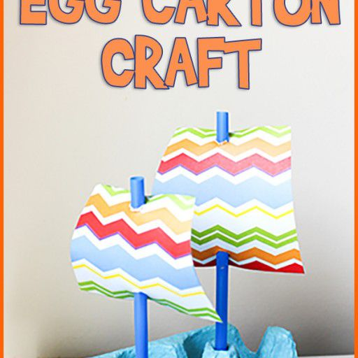 boat egg carton craft