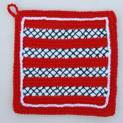 Christmas Crochet Potholder
