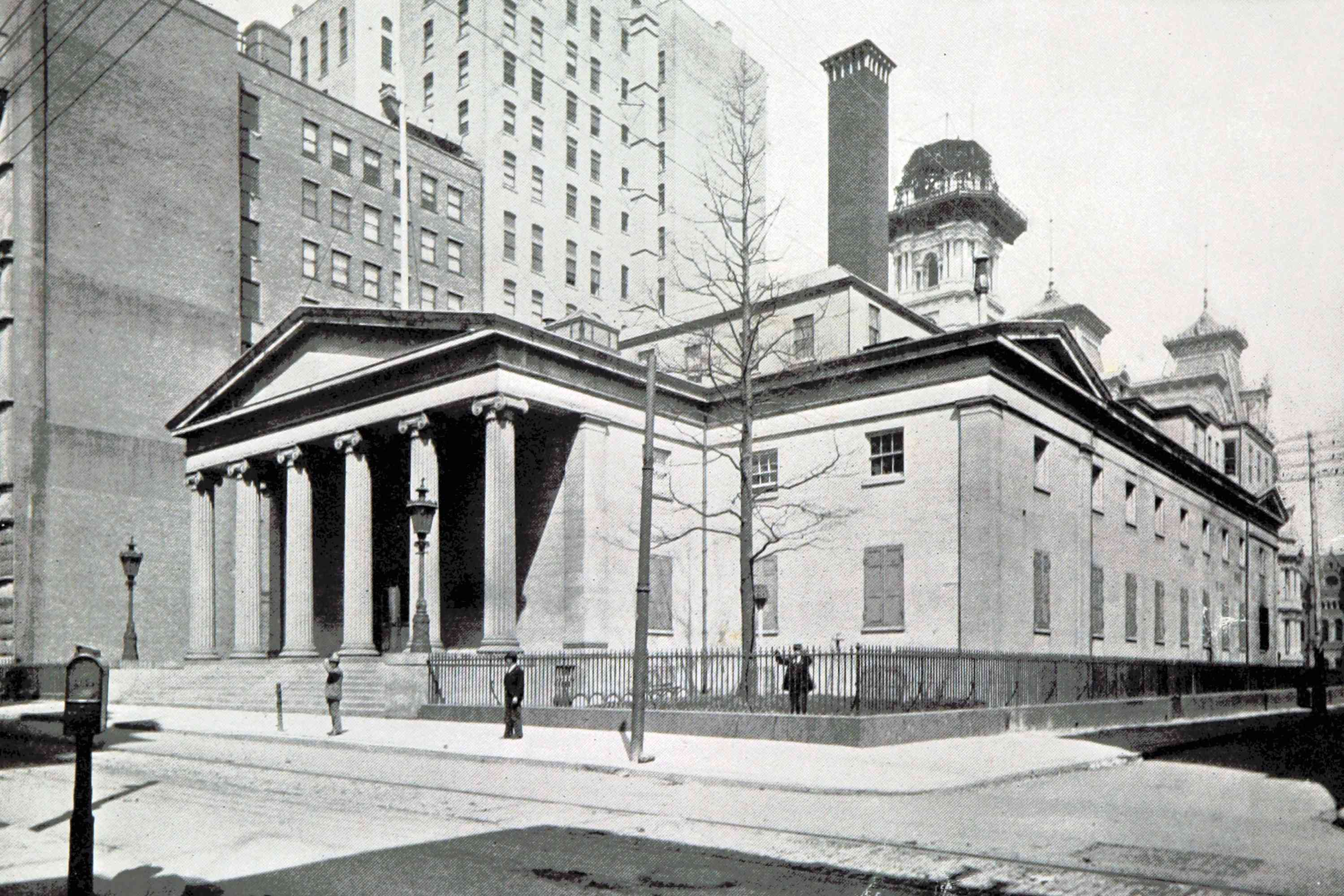 Second Philadelphia mint as seen from the street