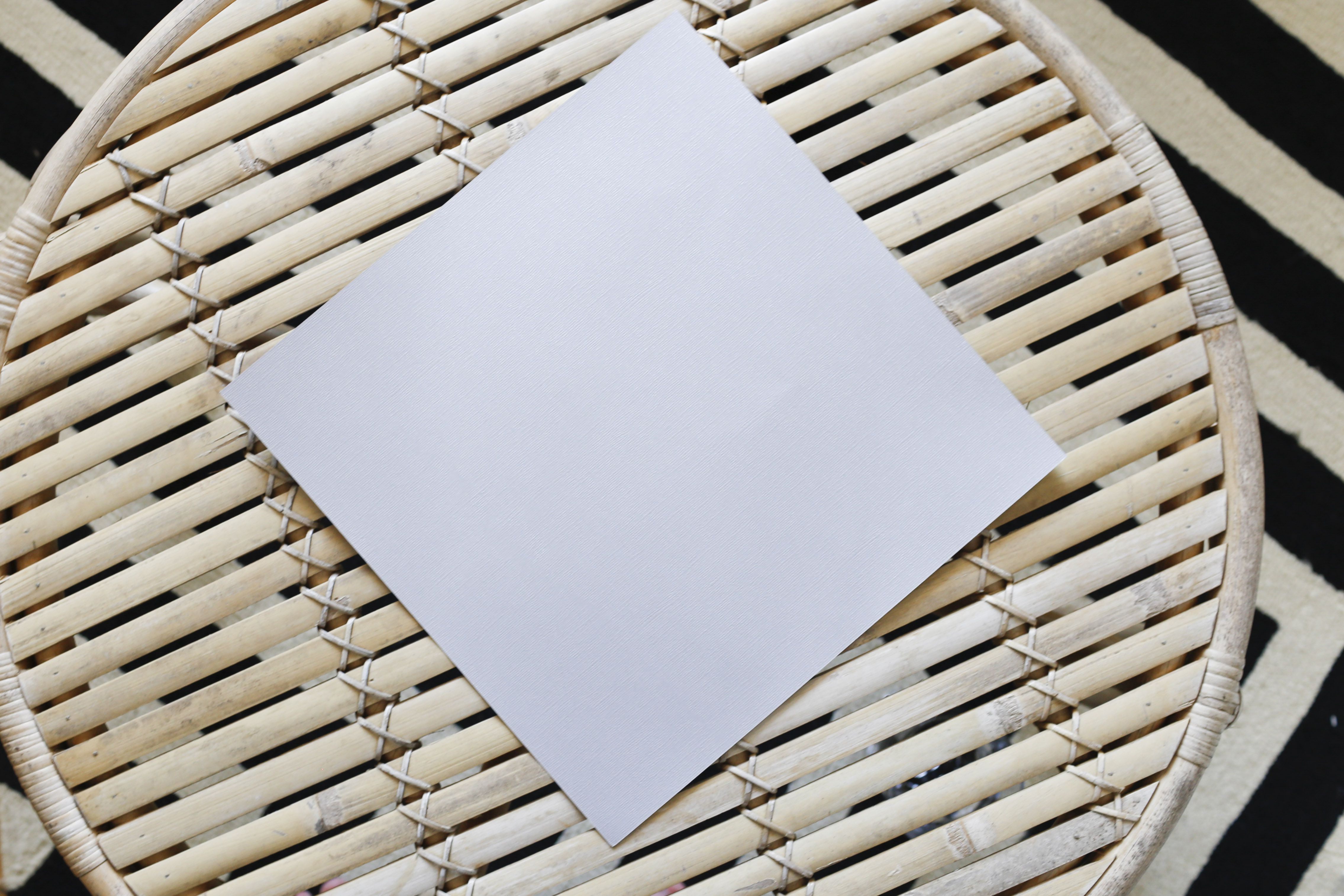Sheet of paper on a table.