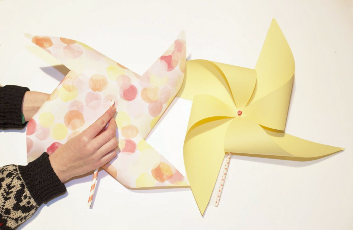 Examples of finished pinwheels