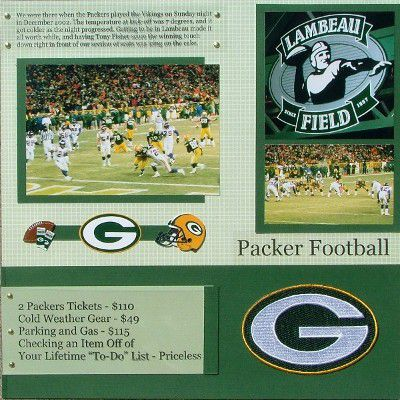 Packer Football scrapbook