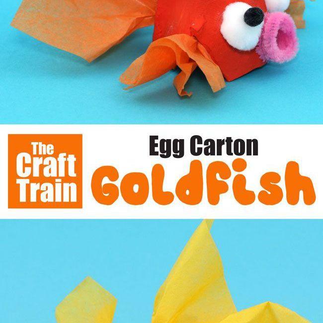 Egg Carton Goldfish